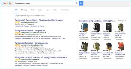 Suchmaschinenwerbung in der organischen Suche